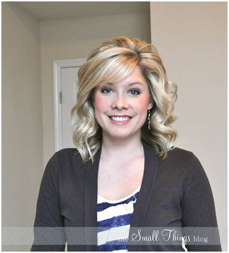curling medium length hair with curling iron curling with a flat iron the small things blog