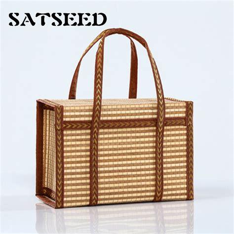 Handmade Bamboo Products - aliexpress buy bag folded custom woven bamboo