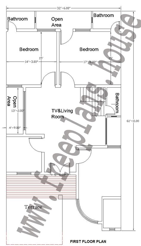 32 square meters to feet 32x62 feet 184 square meter house plan