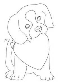 tegning til farvelaegning af en valentins dag hund