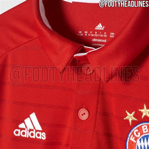 Bayern Munchen Home Jersey 2016 2017 Parley bayern m 252 nchen 16 17 home kit released footy headlines