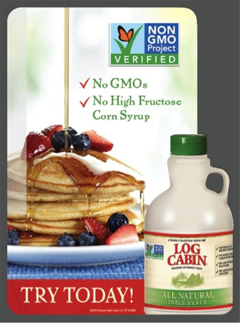 log cabin  natural table syrup  publix great taste naturally