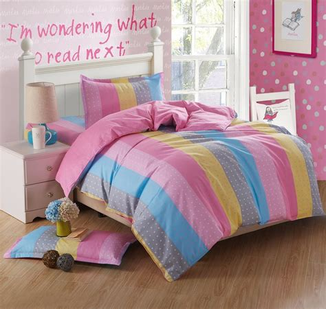 rainbow comforter twin new cute rainbow stripe bedding set twin size 3 pcs cotton