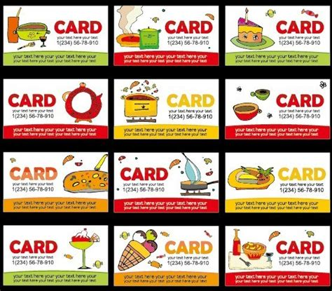 free food card templates free collection of vector food business card templates