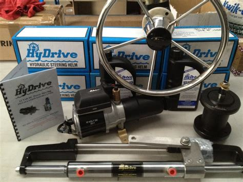 hydrive hydraulic boat steering hydrive power kit complete kit marine steering and winches