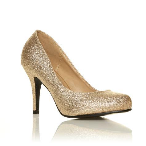 evening high heel shoes court shoes womens office smart black evening
