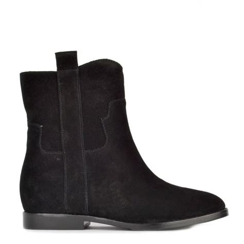 Wedges Simple Suede Black shop suede wedge boots at ash footwear shop boots