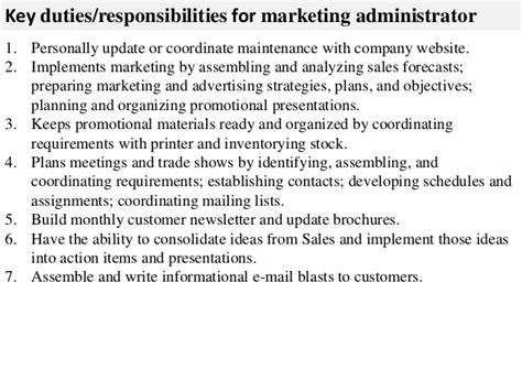 Marketing Administrator by Marketing Administrator Description