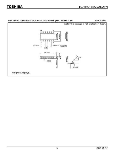 toshiba cmos digital integrated circuit silicon monolithic 74hc164ap データシート pdf cmos digital integrated circuit silicon monolithic