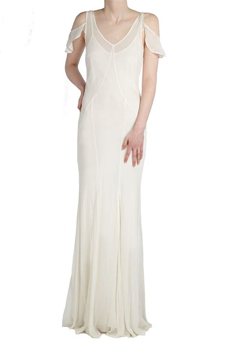 Dress Goest ghost nicolette dress ivory in white lyst