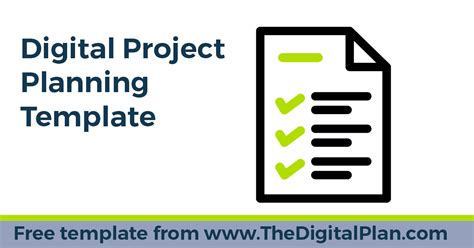 Digital Project Planning Template By The Digital Plan Digital Project Plan Template