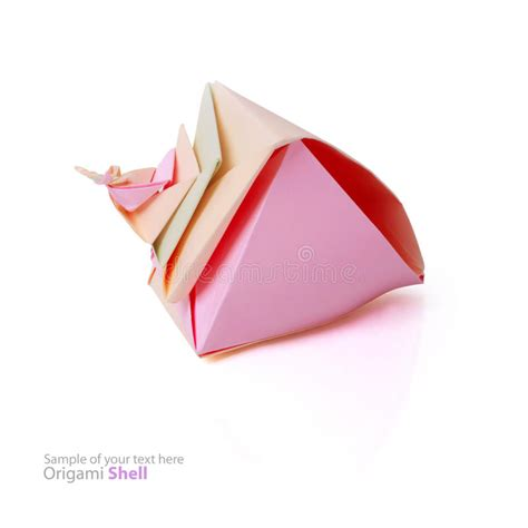 Origami Shell - origami shell stock photos image 33977013
