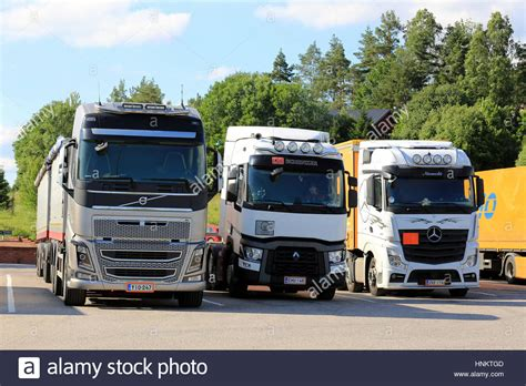 renault truck 2016 salo finland july 1 2016 modern volvo fh renault