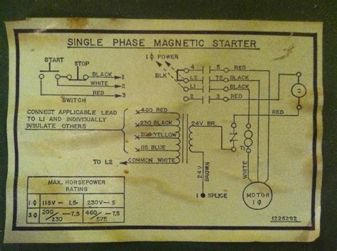 magnetic starter switch for 220 volt wiring diagram