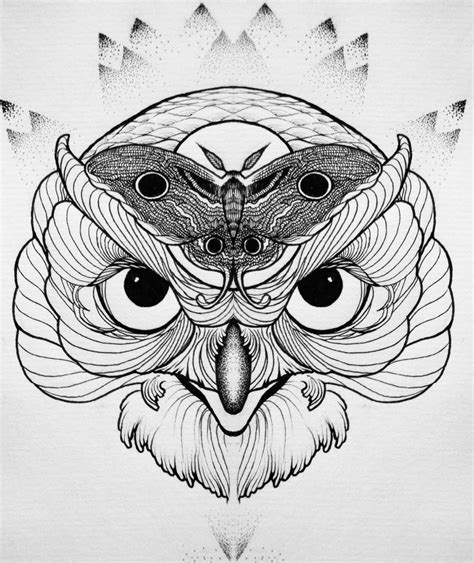 owl tattoo sketch by lookawake on deviantart
