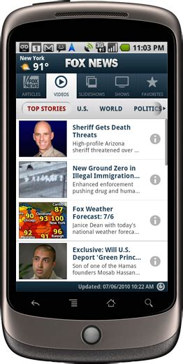 fox news app for android new fox news app shows big media investing in s android business insider