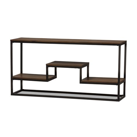 narrow metal sofa table black metal sofa table echelon narrow console table