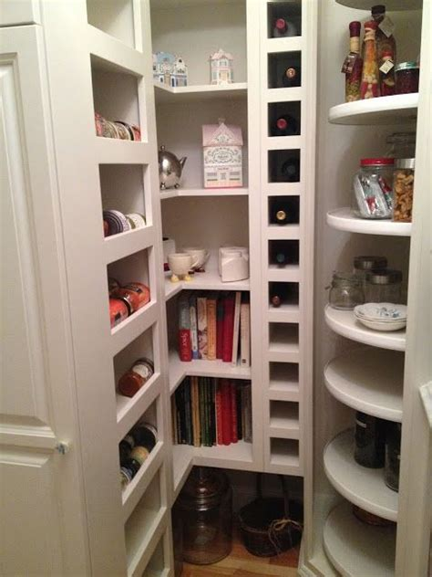 Walk In Cupboard Storage - walk in pantry with lazy susan corner wow talk about a