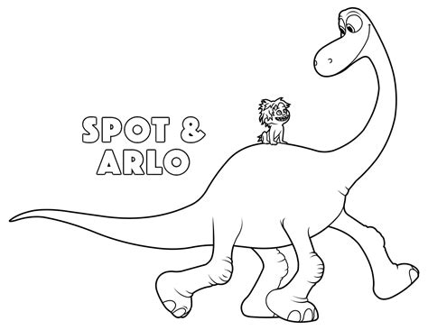 the good dinosaur arlo and spot coloring pages kids