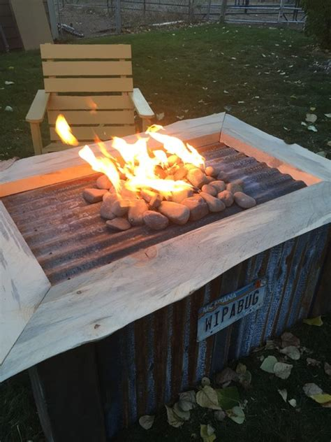 gas and wood pit recycled barn wood gas pit by montana pits