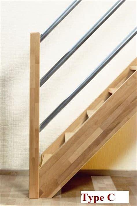 aluminium trap met leuning beuken houten trap savoie