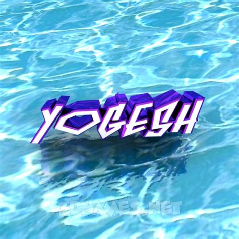 3d wallpaper yogesh preview of water for name yogesh