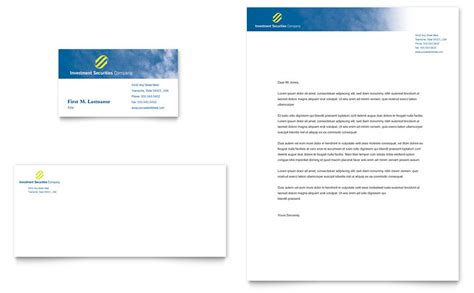 ms word capital business card template investment securities company business card letterhead