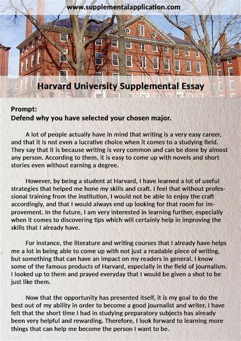 supplement application professional help with harvard supplement essay