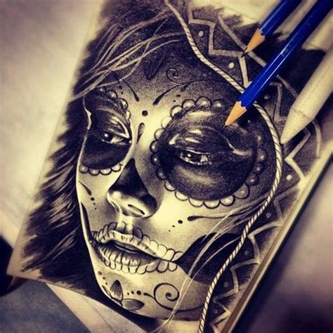 sugar skull girl tattoo sugar skull sugar skull drawing by