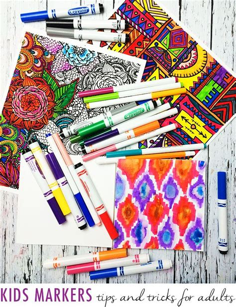 coloring book for adults markers markers tips and tricks for adults coloring