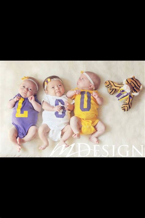 lsu school colors lsu triplets or get onesies made with school colors