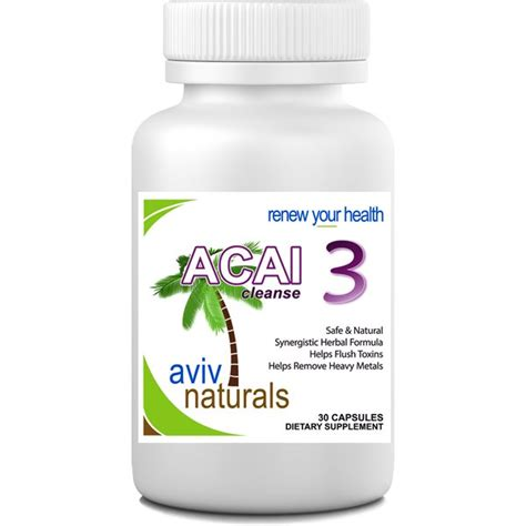 Acai Detox Cleanse by Acai 3 Detox Cleanse Supplement Acai Berry Cascara