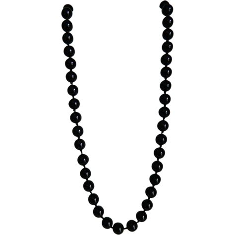 black bead necklace vintage black glass bead necklace from theopulentowl on