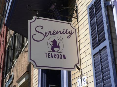 serenity tea room the easily visible sign picture of serenity tearoom frederick tripadvisor