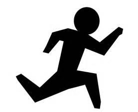 Running man clip art vector