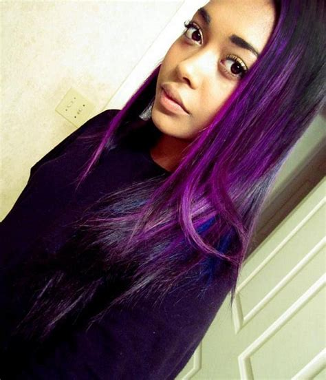 purple hair black women dark purple hair color ideas