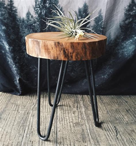 reclaimed wood stump table c hunt chunt co chicago reclaimed salvaged wood