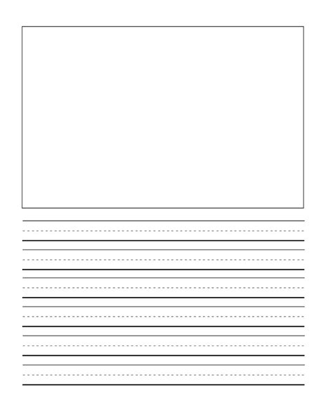 printable writing paper first grade primary writing paper printable 1000 images about