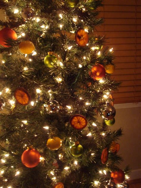 orange coloured christmas tree decorations uk burnt