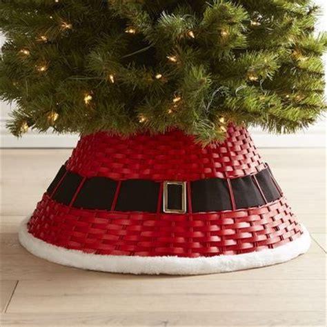 christmas tree collar pier 1 santa belt tree woven collar trees traditional and