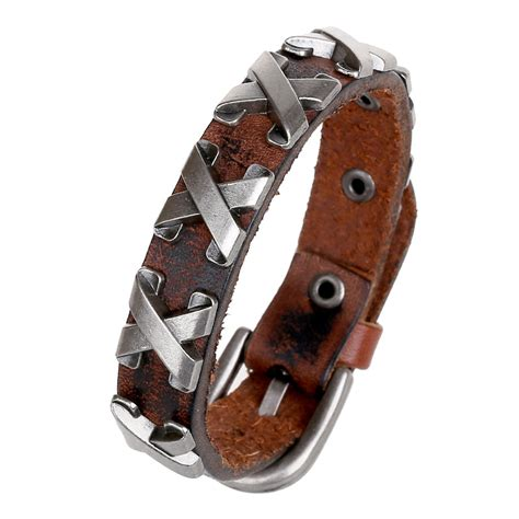 biker leather jewelry google search fashion jewelry hologram bracelets rock bikers wide bangle