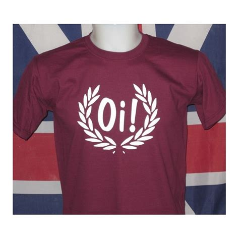 shirt oi t shirt oi in a laurel wreath burgundy white