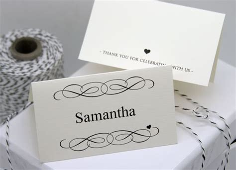 Diy Wedding Name Card Template by Free Diy Printable Place Card Template And Tutorial