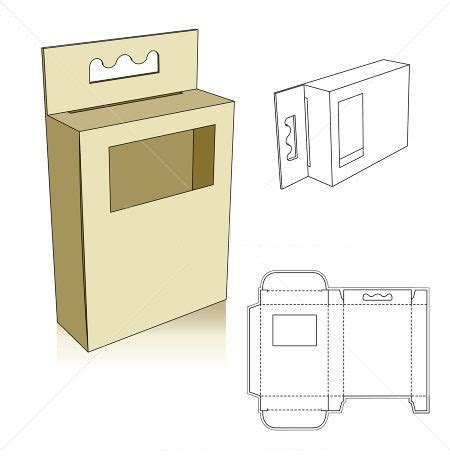 templates for boxes and bags window box template folds dielines pinterest box