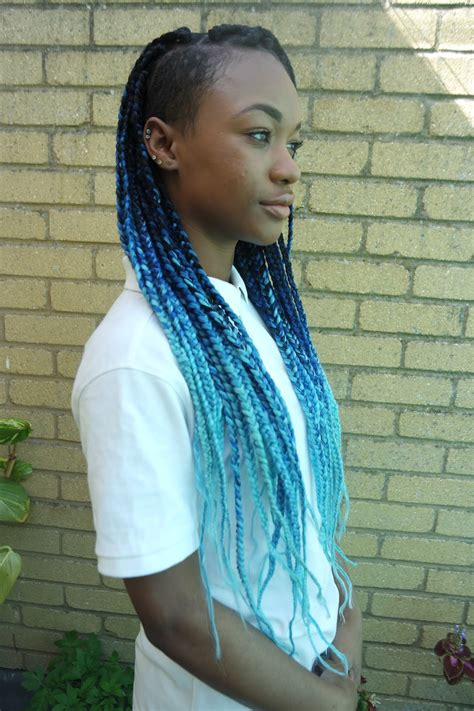 braided in tashika bailey black blue and aqua ombre box braids