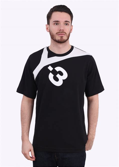 Kaosbajut Shirt Adidas 3 adidas y 3 logo t shirt black white