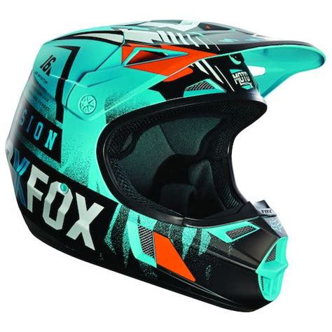 Fox Motorradhelm by Fox Racing Youth V1 Vicious Helmet Revzilla
