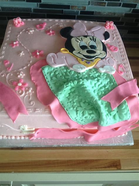 Minnie Mouse Baby Shower Cake by Mini Mouse Baby Shower Cake Fiestas