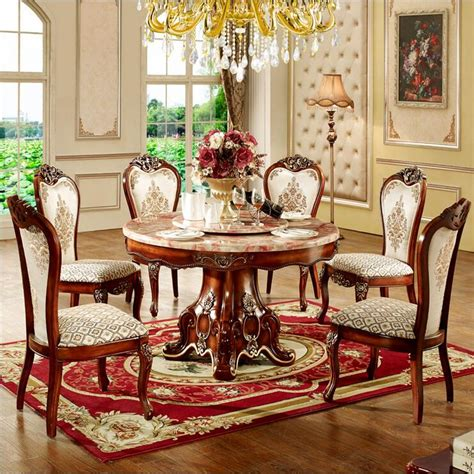 Italian Dining Room Sets Modern Style Italian Dining Table 100 Solid Wood Italy Style Luxury Dining Table Set O1087 In