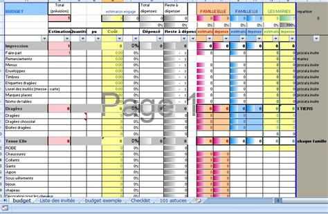 Calendrier Budget Mariage Mariage Calcul Budget Mariage